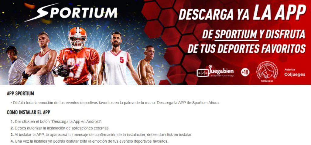 Sportium App: la aplicación móvil para Sportium Apuestas Colombia.
