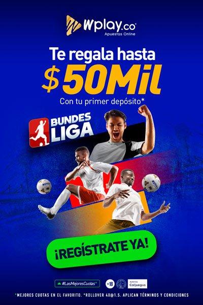 Apuestas Wplay. Bono $50.000 en tu primer depósito. Mejores casas de apuestas Colombia 2020.