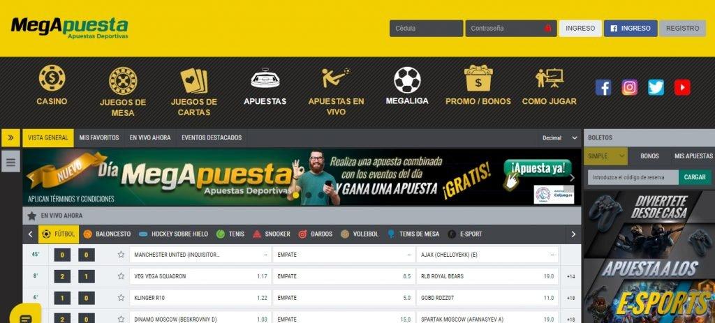 MegApuesta Colombia. MegApuesta es una de las mejores casas de apuestas deportivas Colombia.