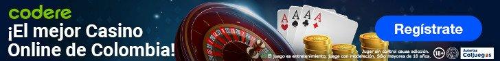 Casino Codere Colombia. Codere Apuestas. Mejores casas de apuestas Colombia. Bono Codere.