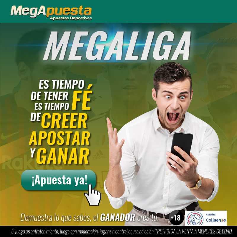 MEGALIGA. Bono MegApuesta. Apuestas deportivas Colombia.