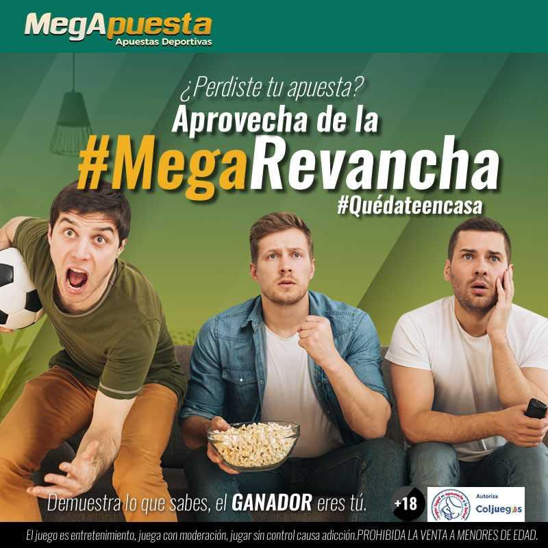 MegaRevancha. Bono MegApuesta. Apuestas deportivas Colombia.