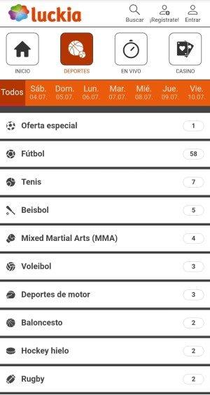 Luckia App. La versión móvil de Luckia Colombia cumple ampliamente con las expectativas. Apuestas deportivas Colombia.